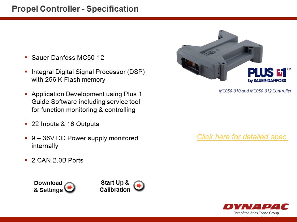 Propel Controller - Specification