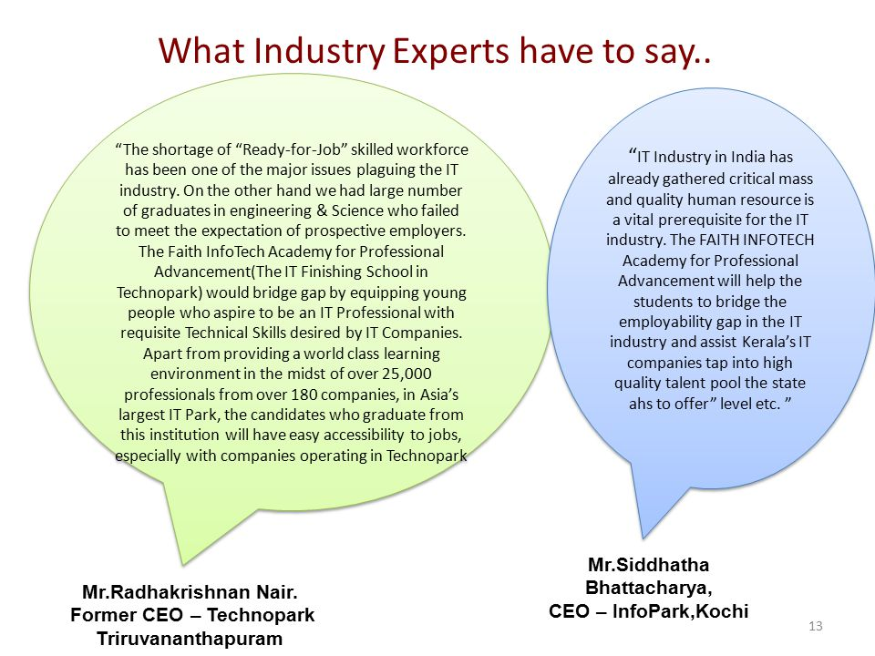 What Industry Experts have to say..