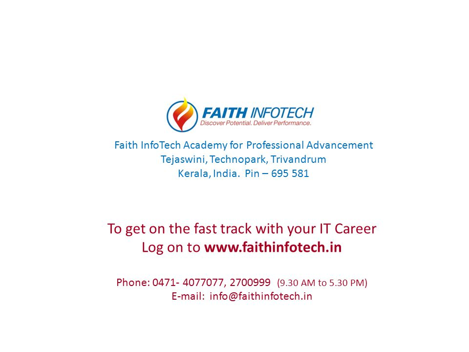 To get on the fast track with your IT Career
