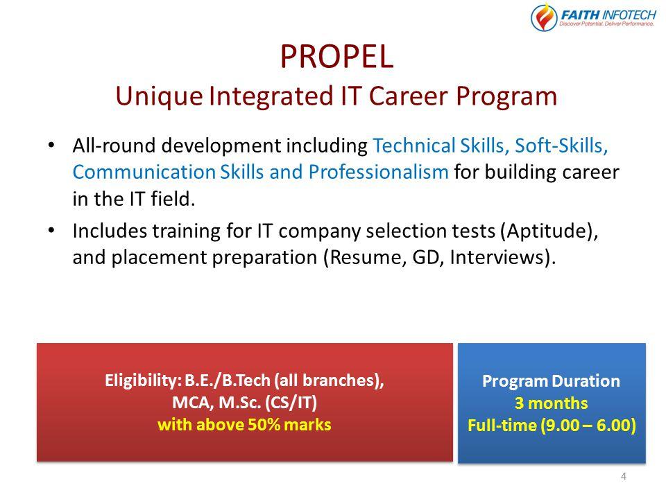 PROPEL Unique Integrated IT Career Program