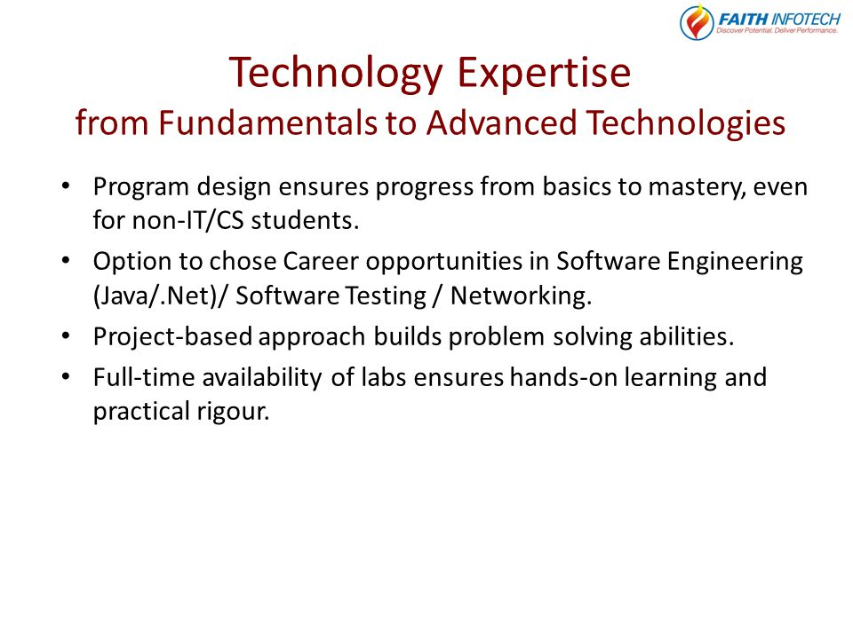 Technology Expertise from Fundamentals to Advanced Technologies