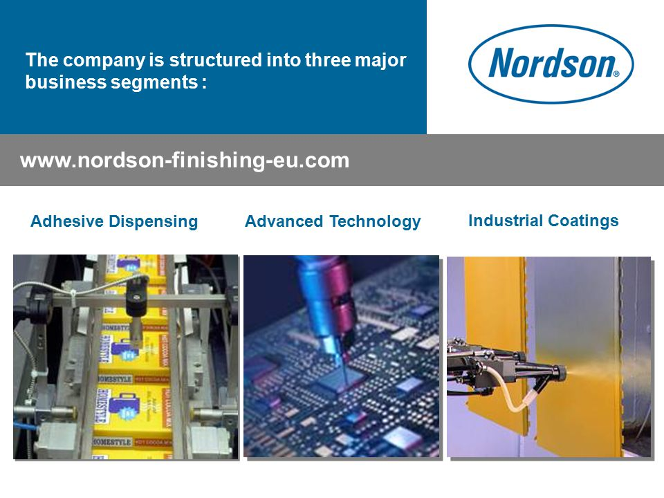 The company is structured into three major business segments :