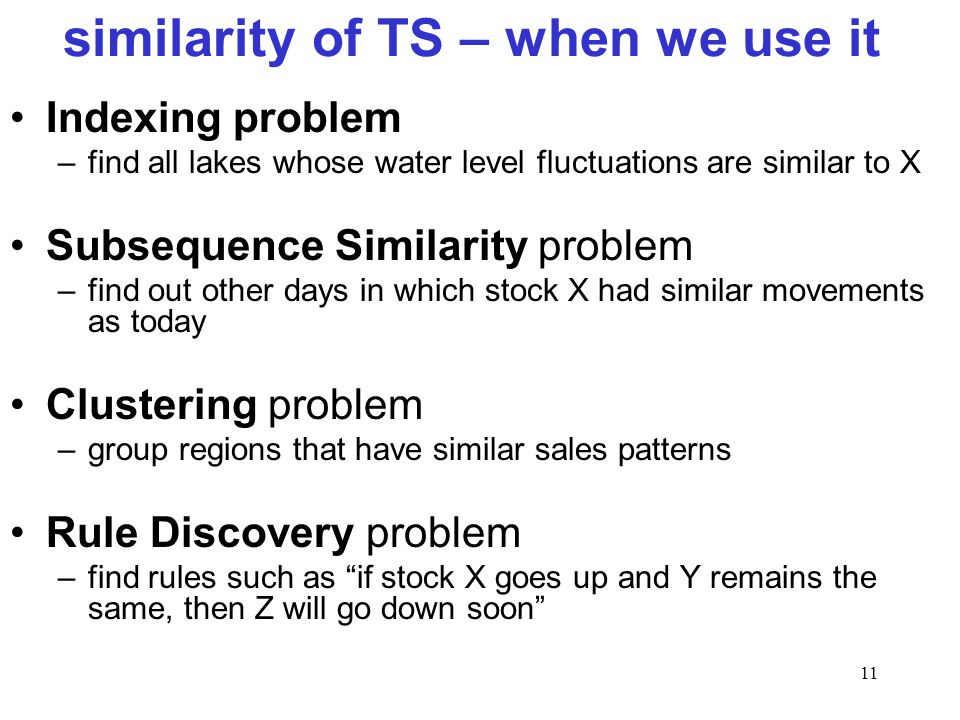 similarity of TS – when we use it