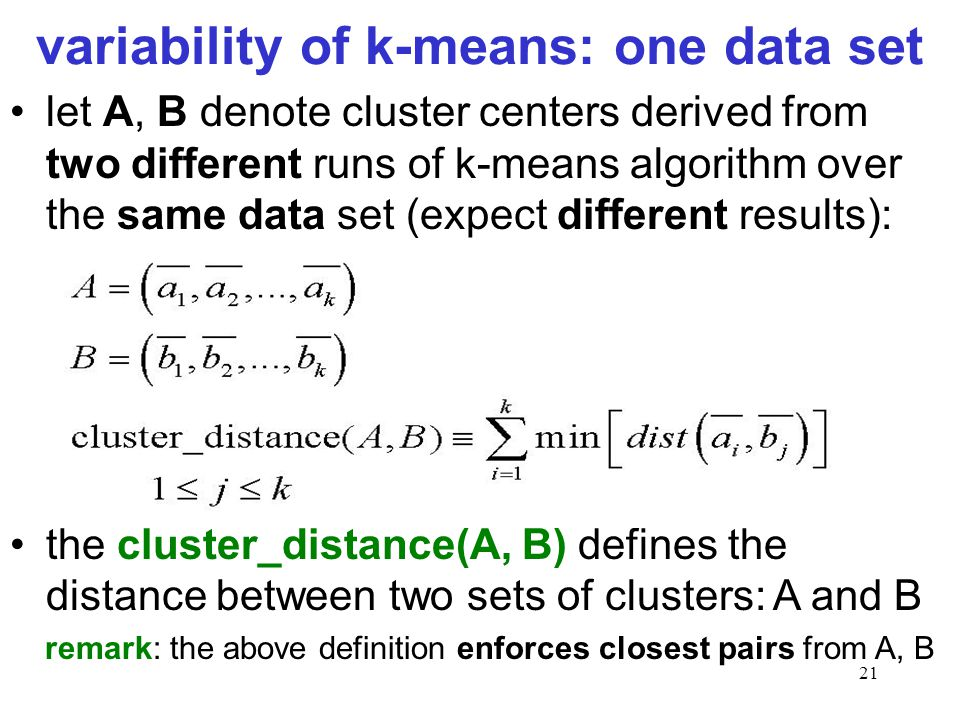 variability of k-means: one data set