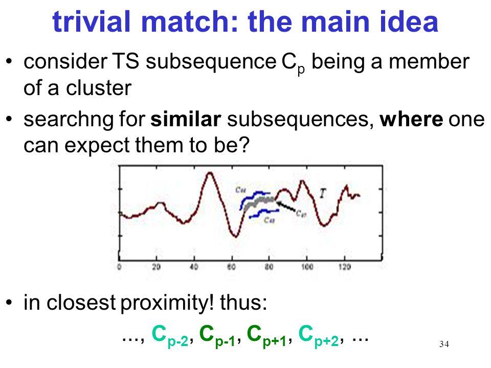 trivial match: the main idea