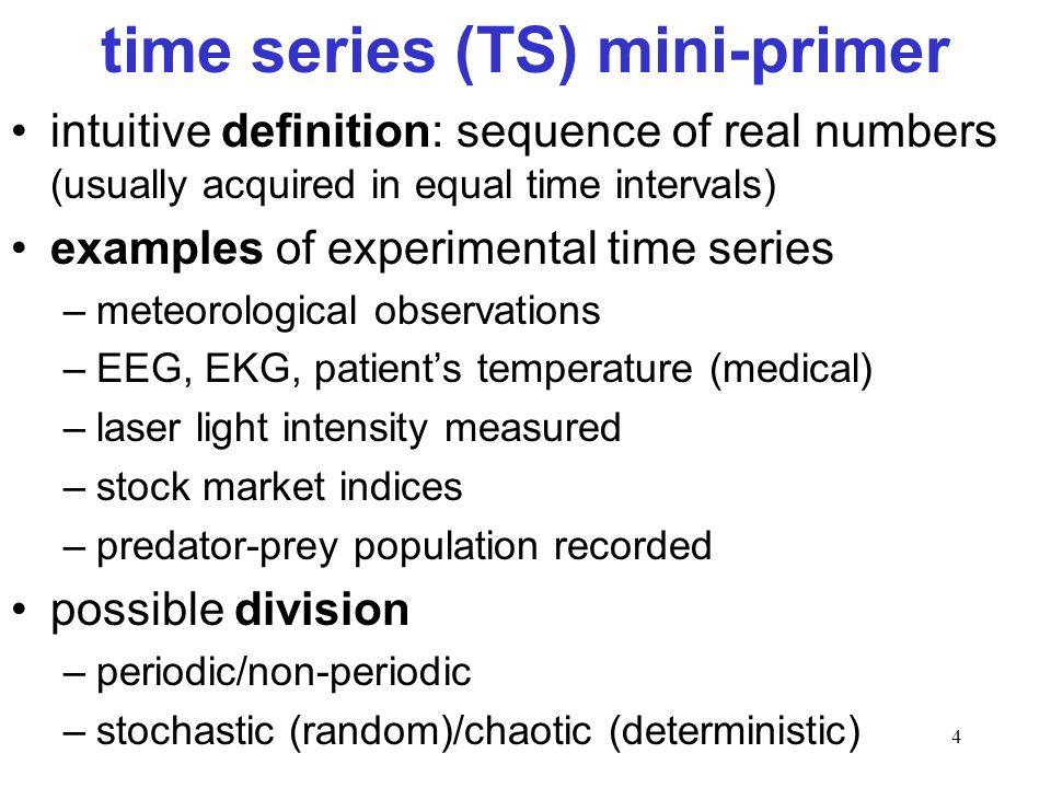 time series (TS) mini-primer