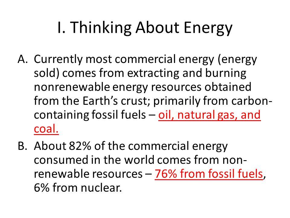 I. Thinking About Energy