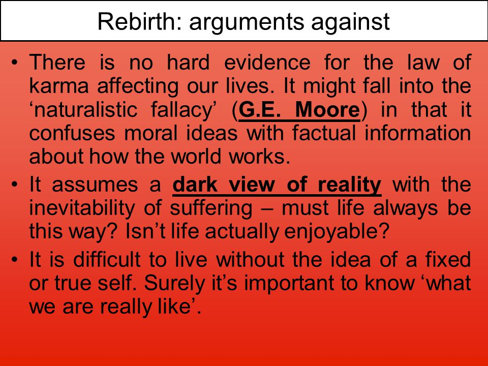 Rebirth: arguments against