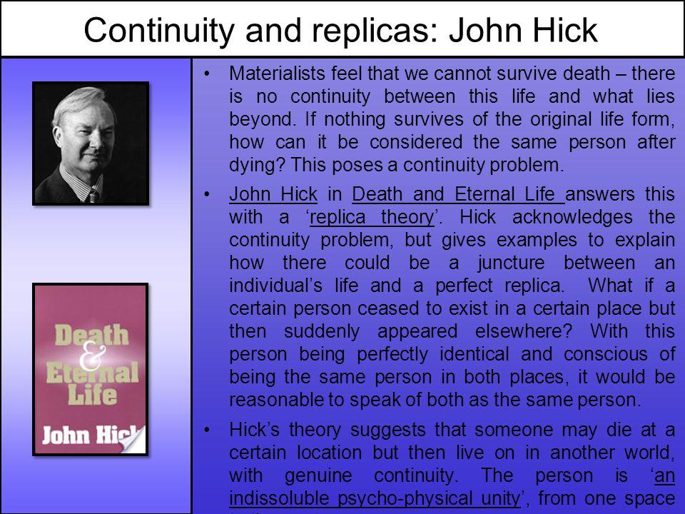 Continuity and replicas: John Hick