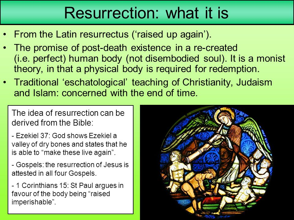Resurrection: what it is