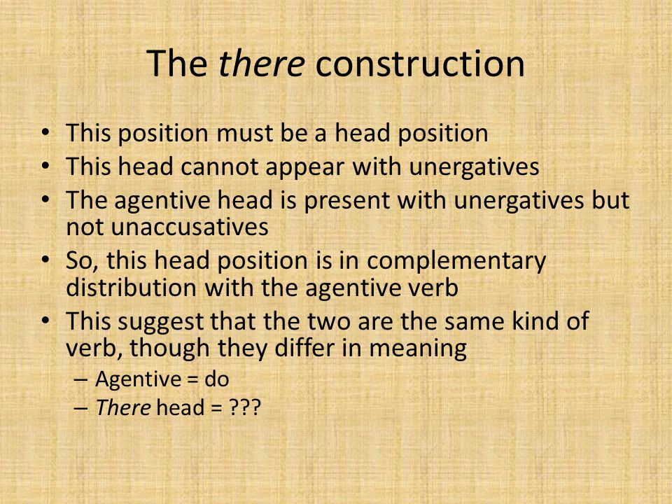 The there construction