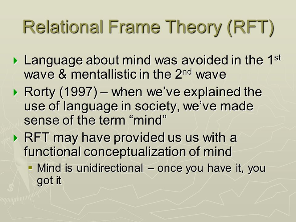 Relational Frame Theory (RFT)