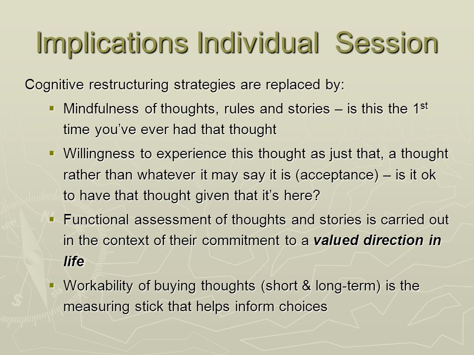 Implications Individual Session