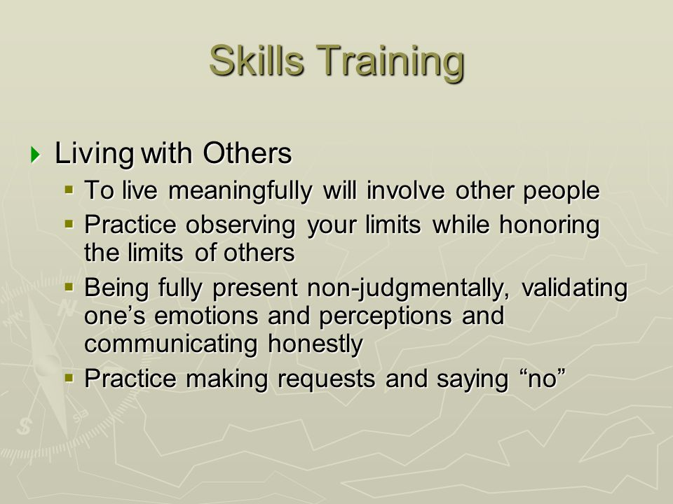 Skills Training Living with Others