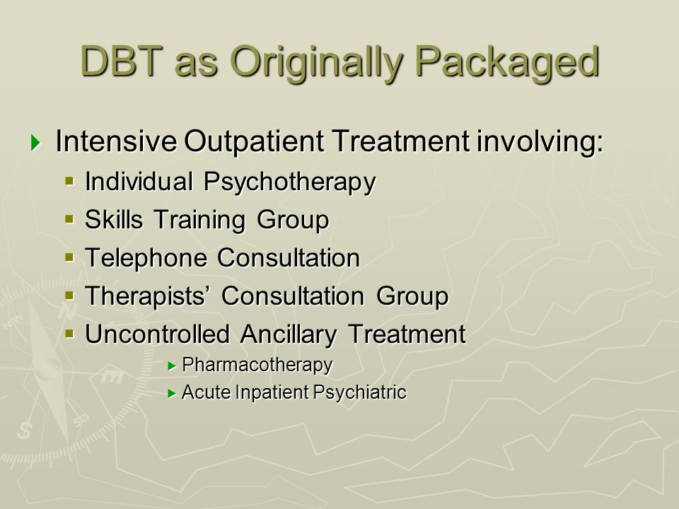 DBT as Originally Packaged