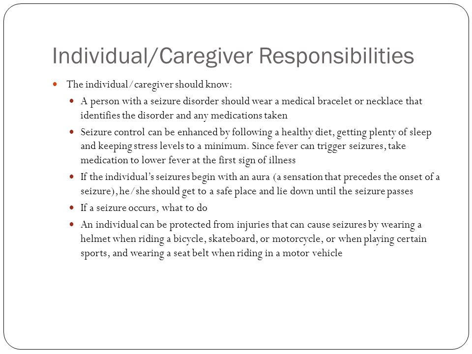 Individual/Caregiver Responsibilities