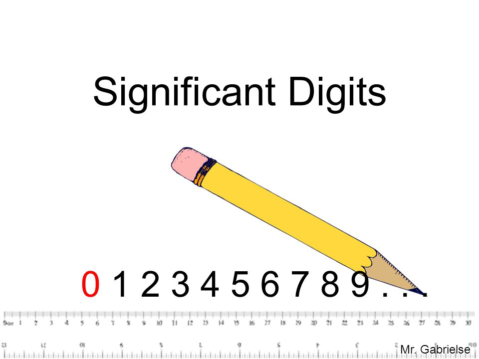 Significant Digits 0 1 2 3 4 5 6 7 8 9 . . . Mr. Gabrielse