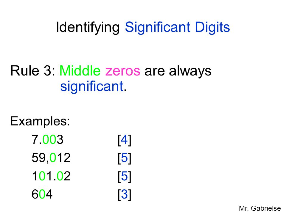 Identifying Significant Digits