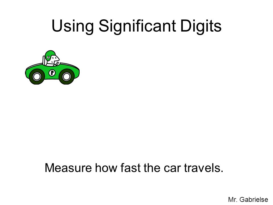Using Significant Digits