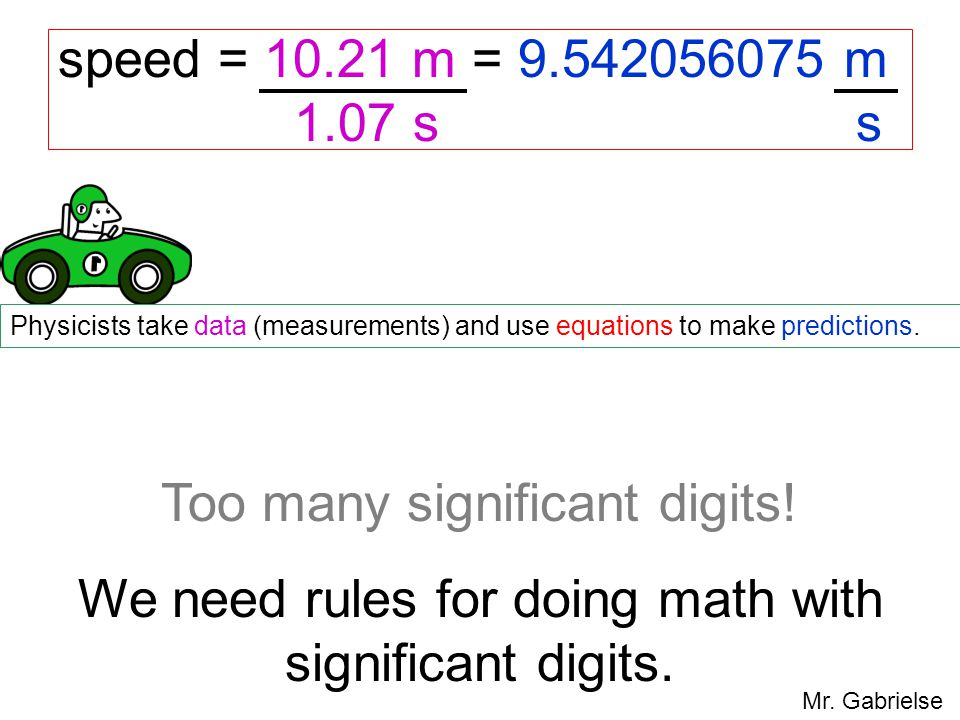 Too many significant digits!