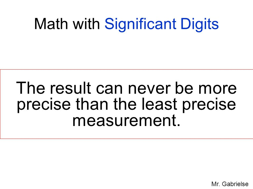 Math with Significant Digits