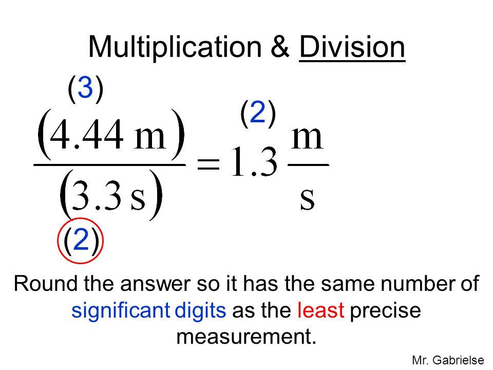 Multiplication & Division