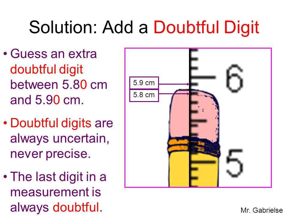 Solution: Add a Doubtful Digit
