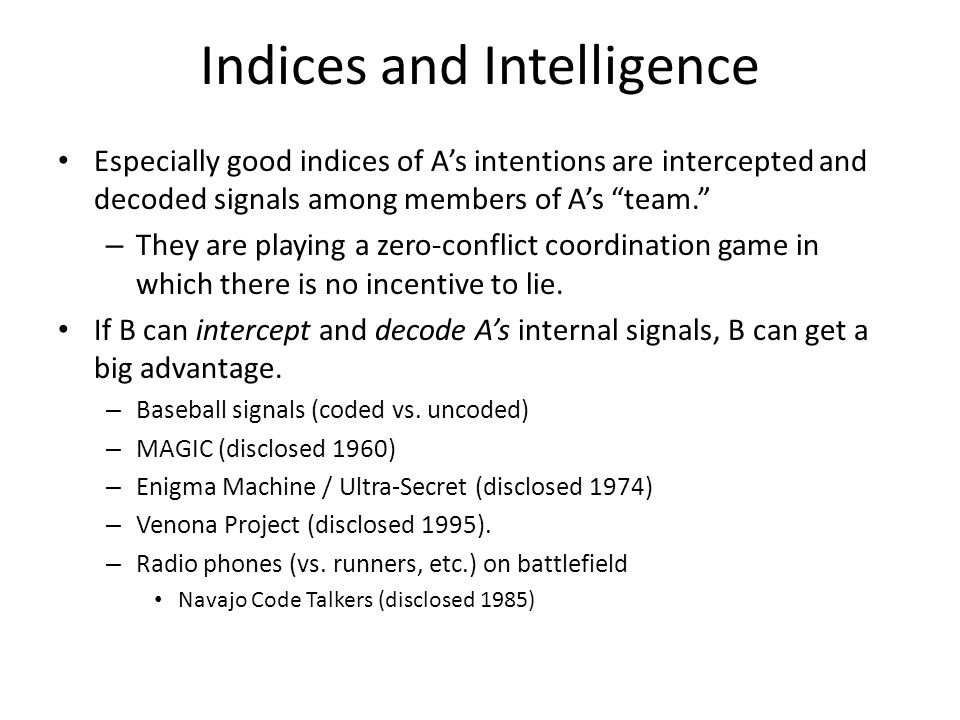 Indices and Intelligence