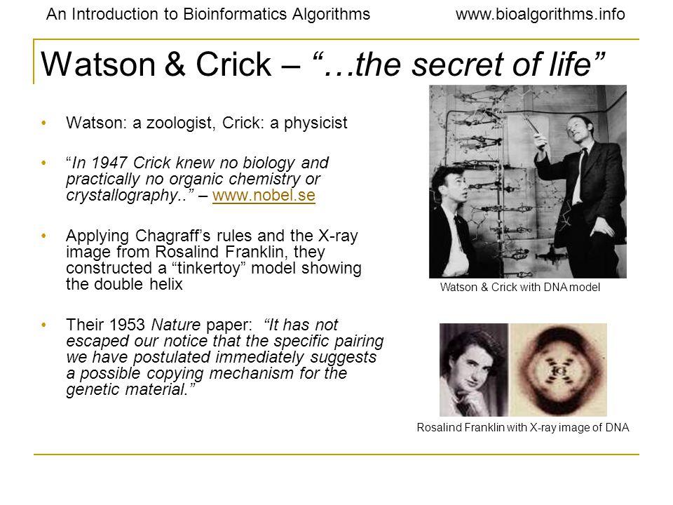 Watson & Crick – …the secret of life