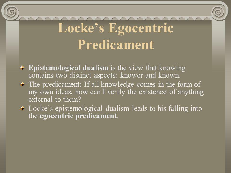 Locke's Egocentric Predicament