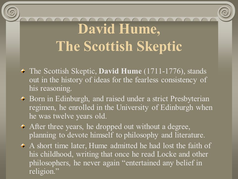 David Hume, The Scottish Skeptic