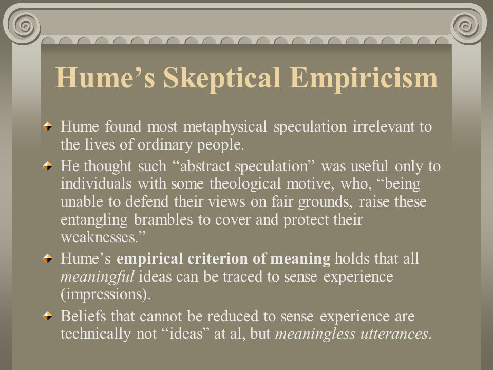 Hume's Skeptical Empiricism