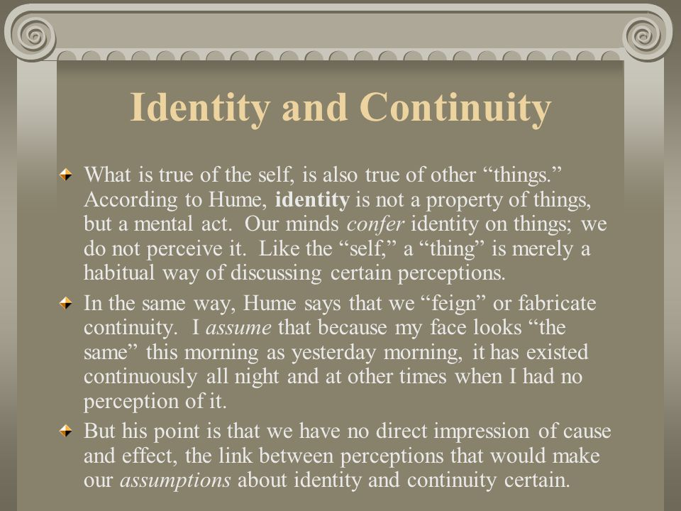 Identity and Continuity