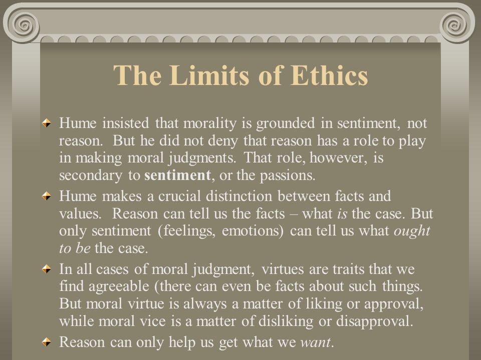 The Limits of Ethics