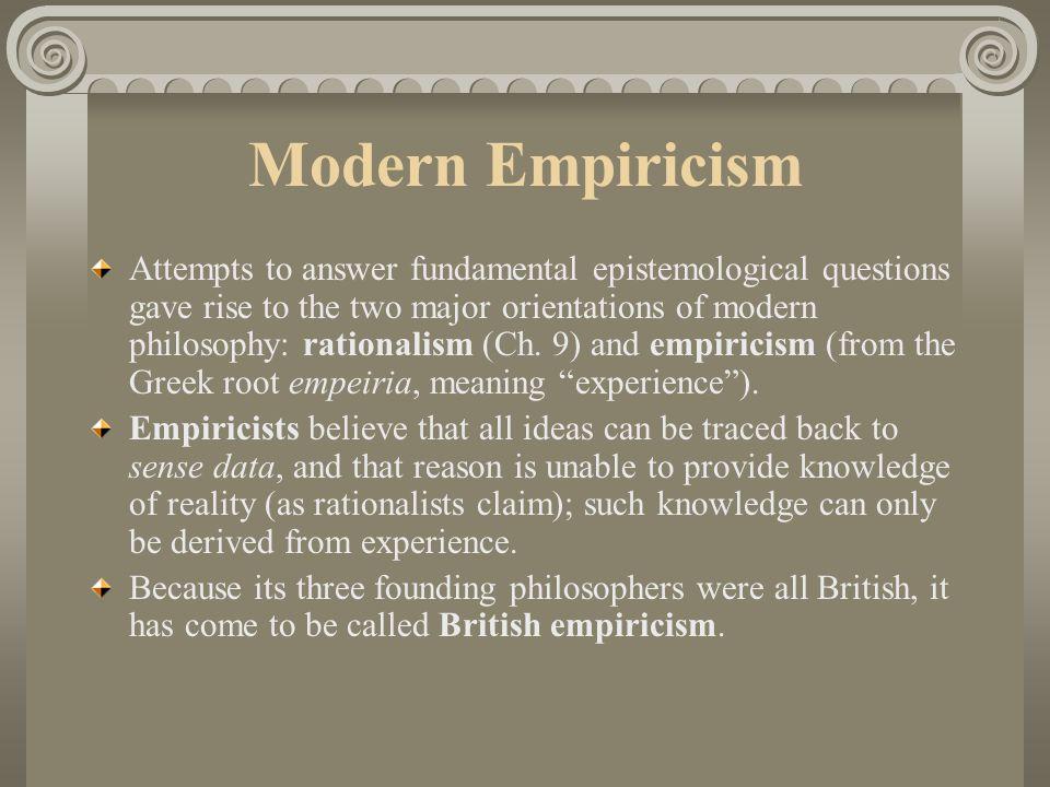 Modern Empiricism