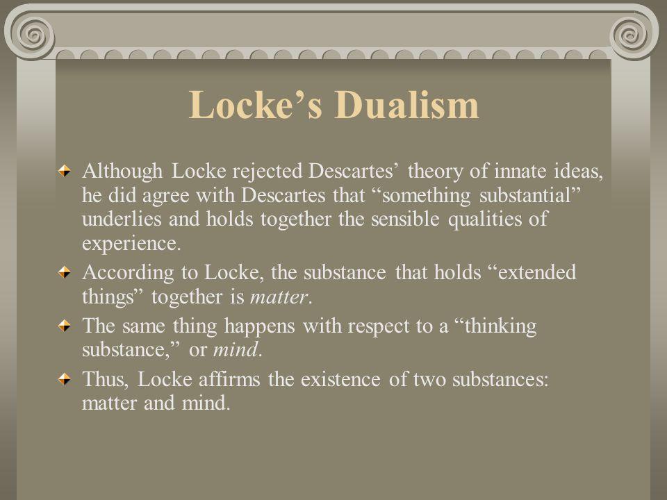 Locke's Dualism