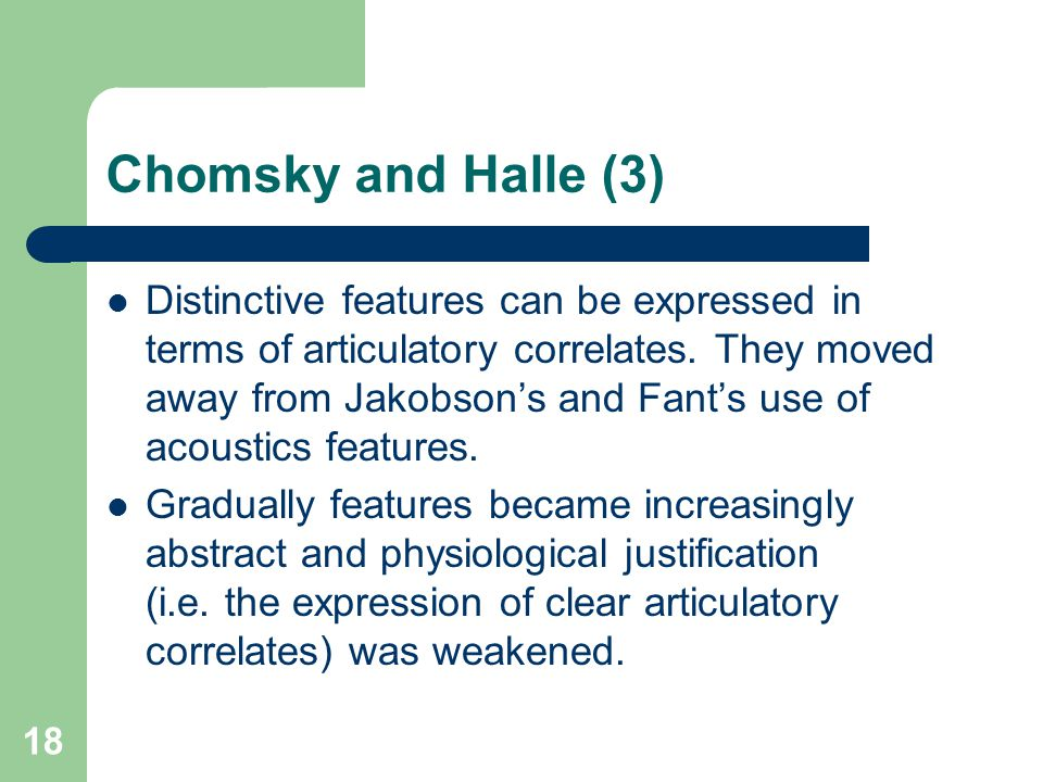 Chomsky and Halle (3)