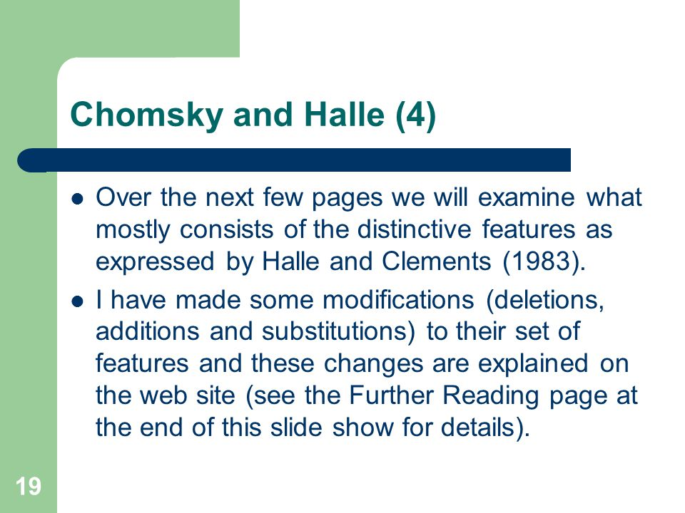 Chomsky and Halle (4)