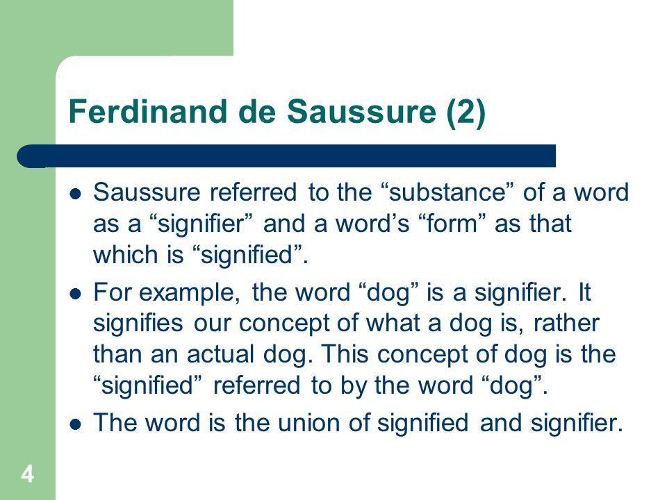 Ferdinand de Saussure (2)