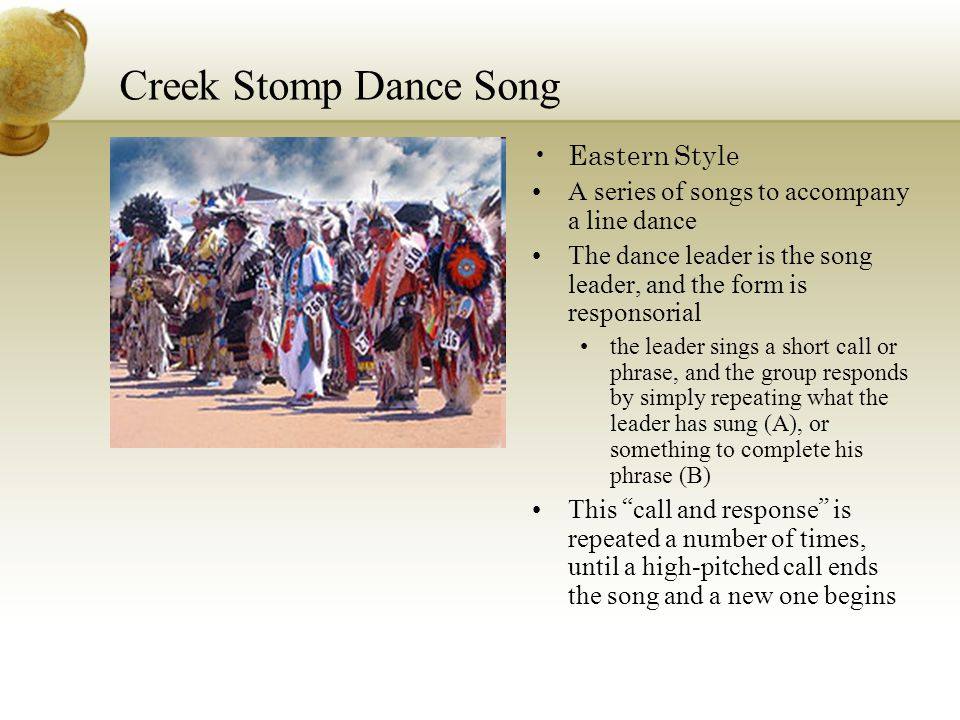 Creek Stomp Dance Song Eastern Style