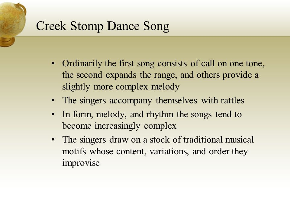 Creek Stomp Dance Song