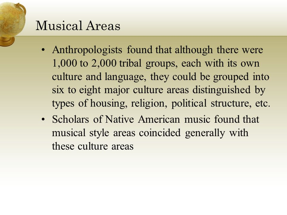 Musical Areas