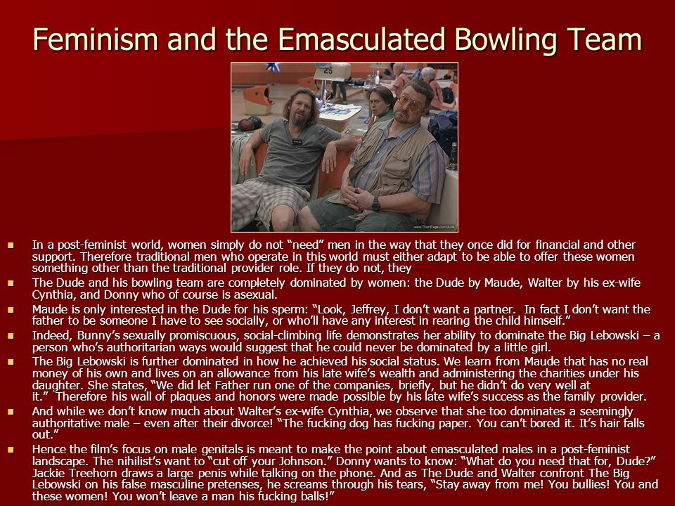 Feminism and the Emasculated Bowling Team