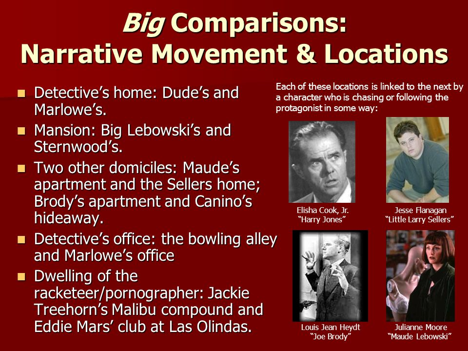 Big Comparisons: Narrative Movement & Locations