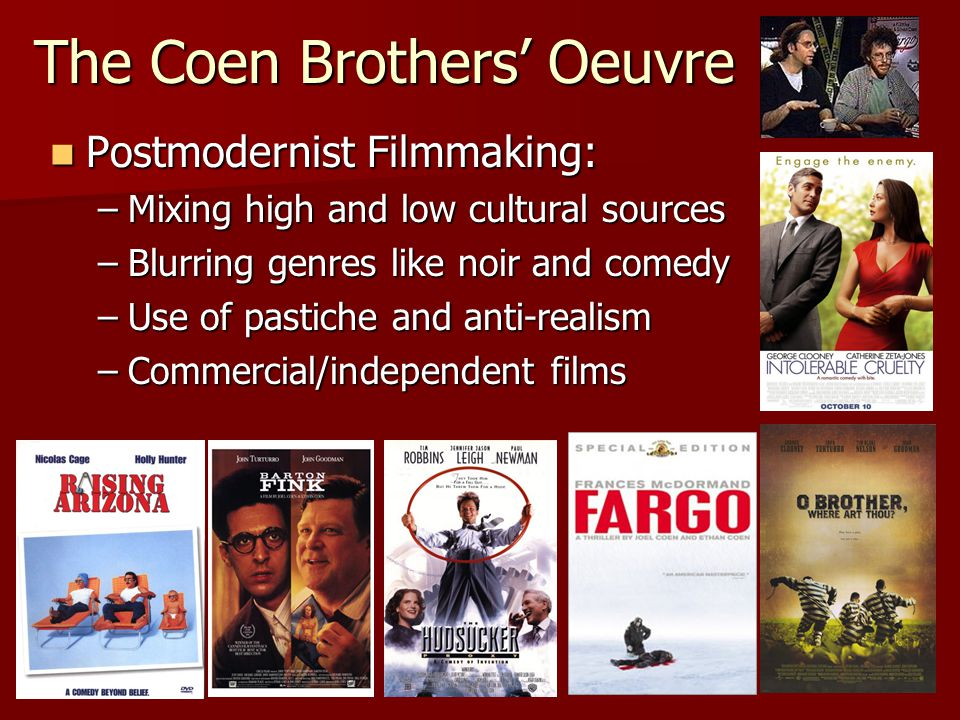 The Coen Brothers' Oeuvre