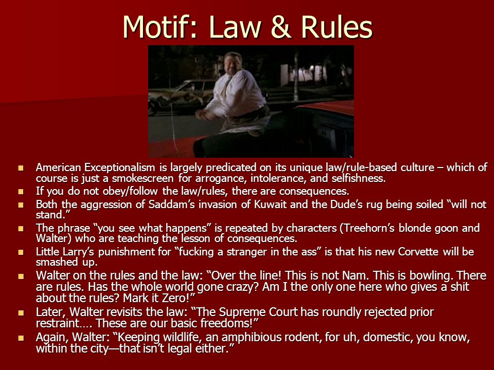 Motif: Law & Rules