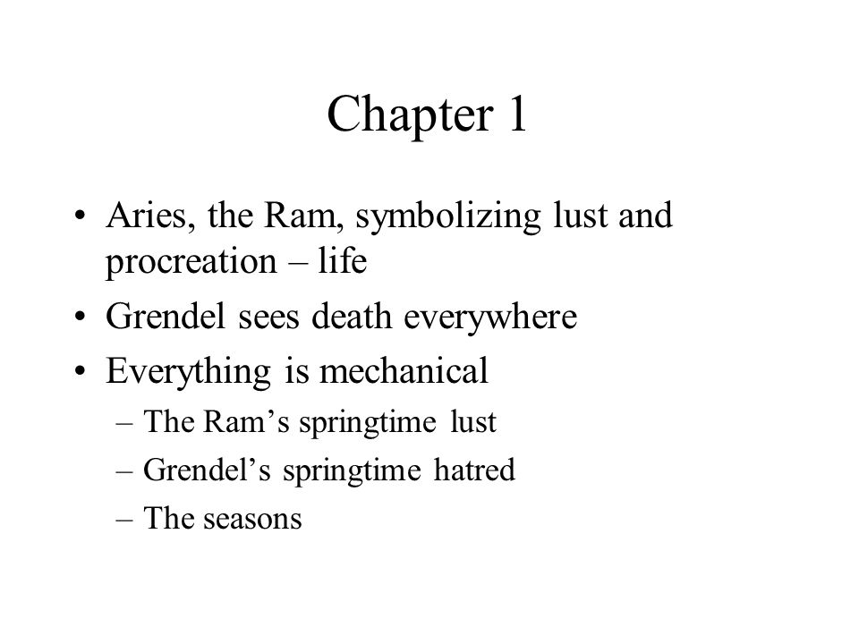 Chapter 1 Aries, the Ram, symbolizing lust and procreation – life