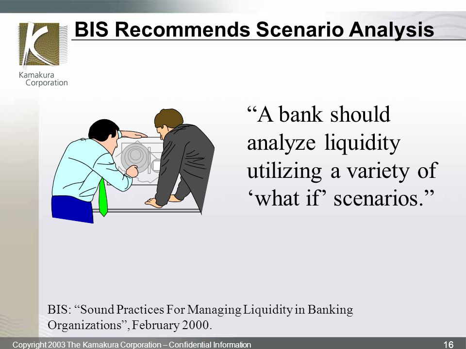 BIS Recommends Scenario Analysis