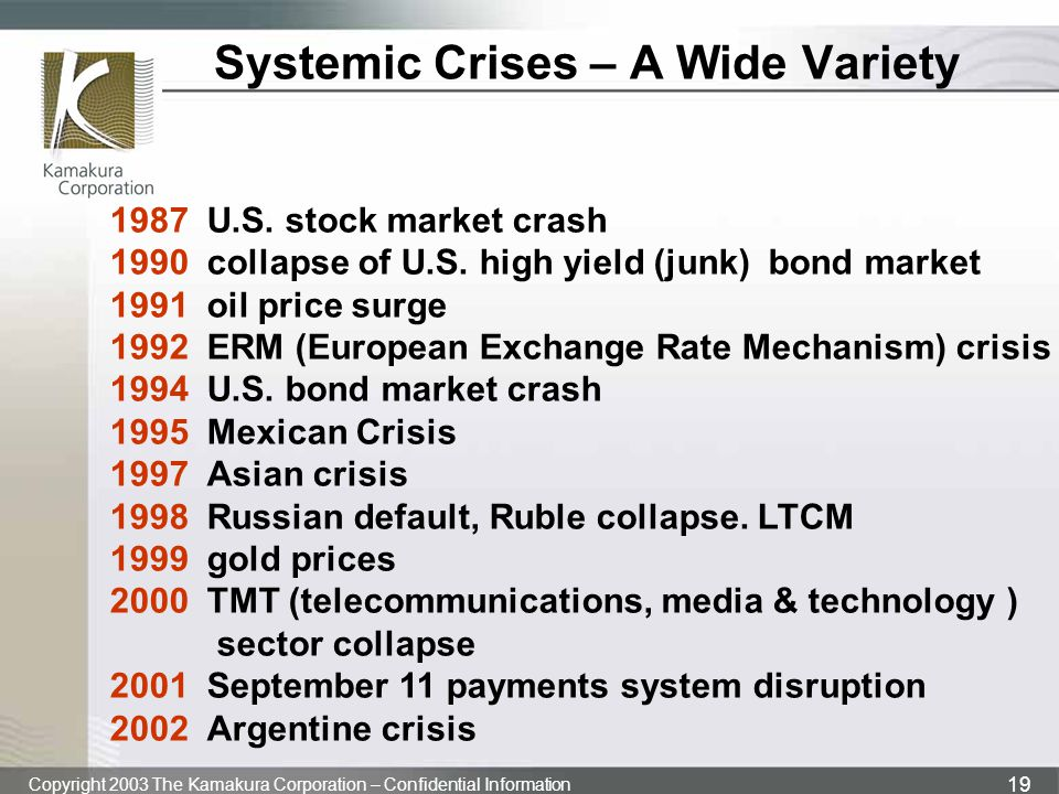 Systemic Crises – A Wide Variety