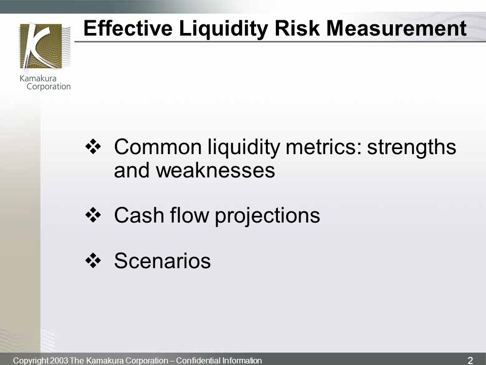 Effective Liquidity Risk Measurement